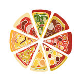 Pizza, sketch for your design Stock Images