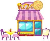 Pizza sklep ilustracji