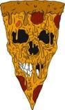 Pizza skull stock illustration