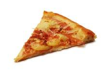 Pizza slice. Isolated on white royalty free stock photo
