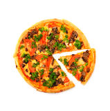 Pizza with the slice Stock Image