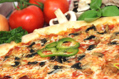 Pizza slice. Close up photo royalty free stock images