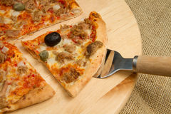 Pizza slice Stock Photos