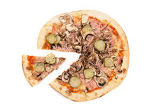 Pizza and slice Royalty Free Stock Photo