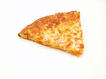 Pizza Slice. A slice of pizza on white background Royalty Free Stock Images