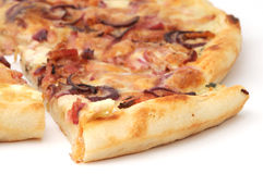 Pizza slice. Close-up of pizza slice Royalty Free Stock Image