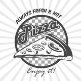 Pizza slice advertising poster Royalty Free Stock Image