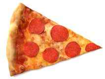Pizza Slice. 3d illustration of a slice of pizza Stock Images