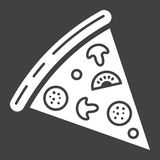 Pizza slice glyph icon, food and drink, fast food Royalty Free Stock Image