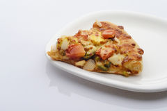 Pizza Slice. High resolution image of vegetable pizza stock photos
