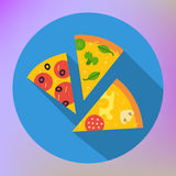 Pizza Slice Icon vector flat icon Royalty Free Stock Photography