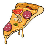 Pizza slice. Slice of pizza isolated on white stock illustration