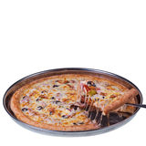 Pizza Slice lift Royalty Free Stock Image