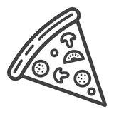 Pizza slice line icon, food and drink, fast food. Sign vector graphics, a linear pattern on a white background, eps 10 Royalty Free Stock Photos