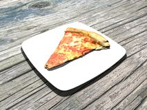 Pizza, slice of pizza, italian food Stock Photography