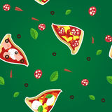 Pizza slice seamless pattern Stock Photo