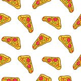 Pizza slice seamless pattern cartoon vector. royalty free illustration