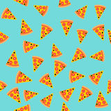 Pizza slice seamless pattern. Vector background. Fast food. royalty free illustration