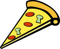 Pizza slice vector illustration. Vector illustration of a pizza slice Royalty Free Stock Photography