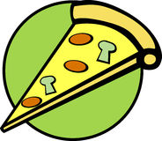 Pizza slice vector illustration Stock Photo