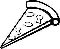 Pizza slice vector illustration Royalty Free Stock Image