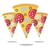 Pizza slice. Vector illustration. Isolated objects on a white background royalty free illustration