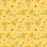 Pizza slices seamless pattern royalty free stock photos