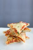Pizza Slices Stacked on a plate Royalty Free Stock Photography
