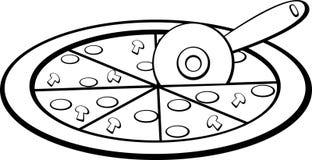 pizza slicing vector illustration Stock Image