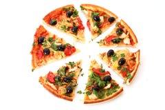 pizza slised zdjęcie stock