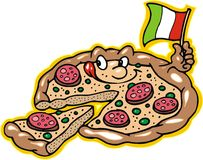 Pizza is smiling Stock Photo