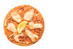 Pizza smoked salmon Royalty Free Stock Photography
