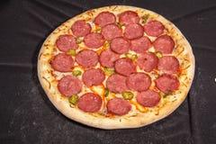 Pizza snabbmat Fotografering för Bildbyråer