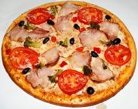 Pizza, snel voedsel Stock Afbeeldingen