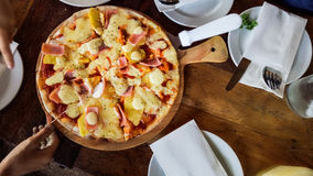 Pizza snel voedsel Royalty-vrije Stock Foto's