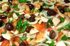 Pizza som är förberedd Royaltyfri Foto