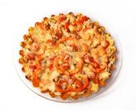 Pizza som är hemlagad med ost Arkivbilder