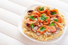 Pizza spaghetti Stock Photos