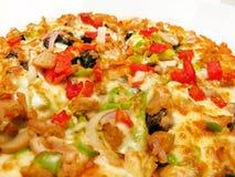 Pizza squisita w/pepperoni immagini stock libere da diritti