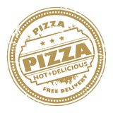 Pizza stamp Royalty Free Stock Photos