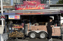 Pizza stand Royalty Free Stock Photography