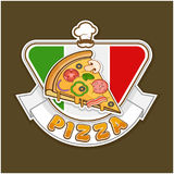 Pizza sticker Stock Photo