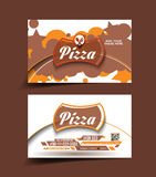 Pizza store. Business card set Royalty Free Stock Photography