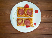 Pizza strips Royalty Free Stock Image