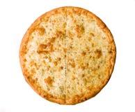 Pizza su bianco Fotografia Stock Libera da Diritti