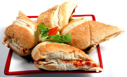 Pizza subs Royalty Free Stock Photos