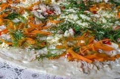 Pizza sulla tabella Fotografia Stock Libera da Diritti