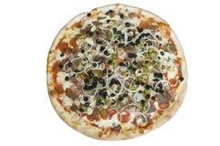 Pizza suprema imagenes de archivo