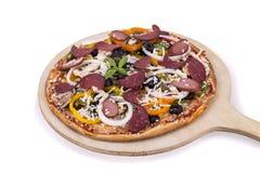 Pizza suprema super fotografia de stock