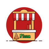 Pizza sur le fond blanc Objet d'isolement par pizza Illustration Stock